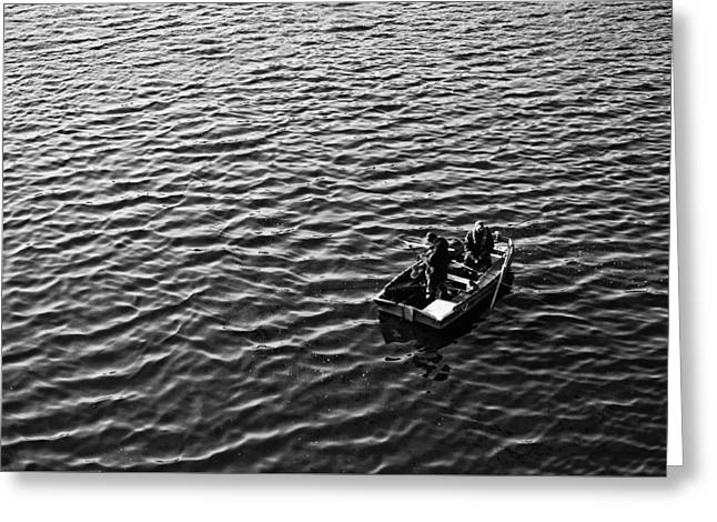 Greeting Card featuring the photograph Fishing by Adrian Pym