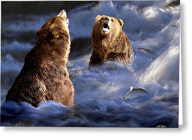 Fishing Alaska Greeting Card by Bill Stephens
