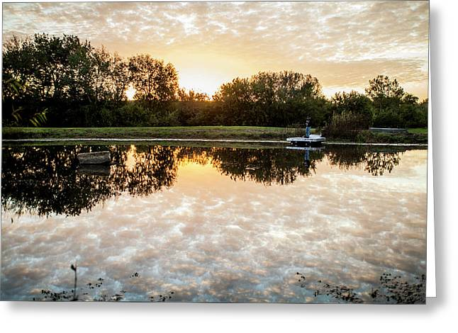 Fishing At Dawn Greeting Card