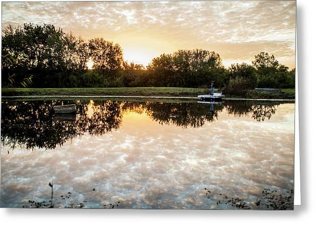 Fishing At Dawn Greeting Card