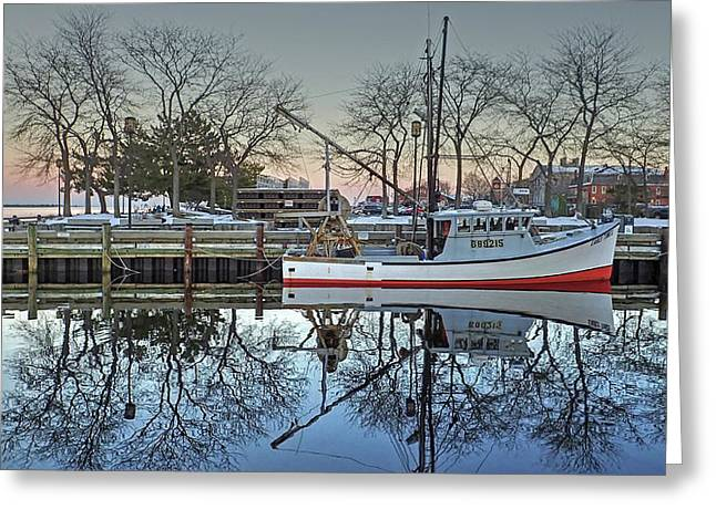 Fishing Boat At Newburyport Greeting Card