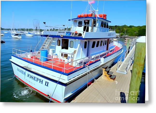 Fishing Boat Docked Greeting Card by Ed Weidman