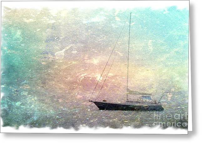 Fishing Boat In The Morning Greeting Card
