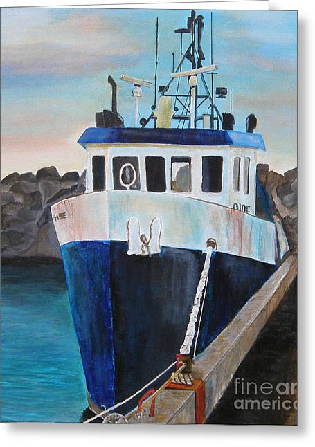 Fishing Boat  Greeting Card by Jo Baby