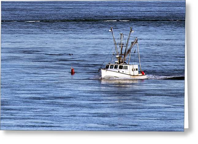 Fishing Boat Return Greeting Card