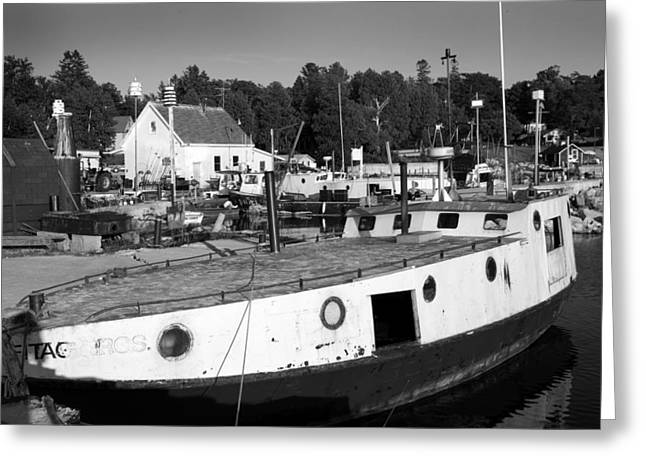 Fishing Boats - Gils Rock Greeting Card by Stephen Mack