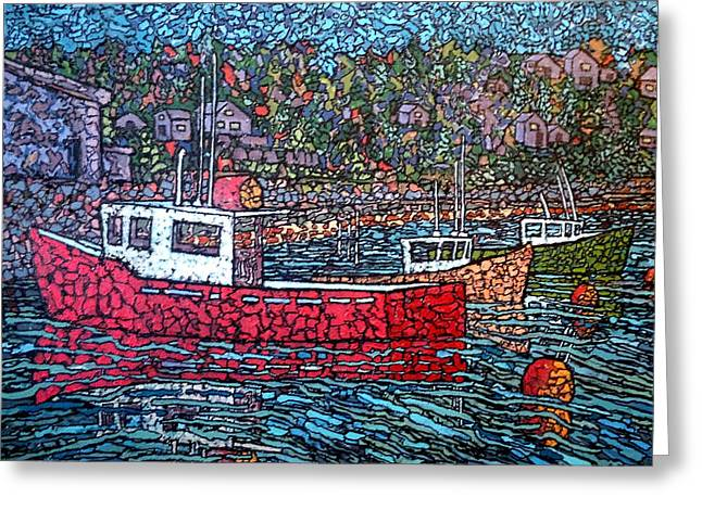 Fishing Boats - Beaver Harbour Greeting Card