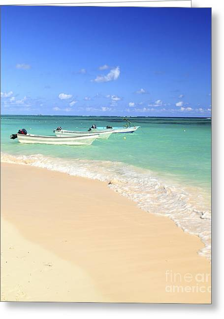 Fishing Boats In Caribbean Sea Greeting Card