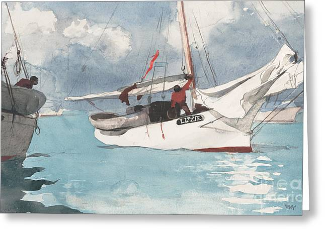 Fishing Boats, Key West, 1903 Greeting Card by Winslow Homer