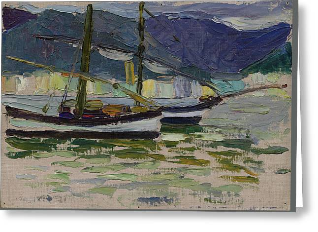 Fishing Boats, Sestri Greeting Card