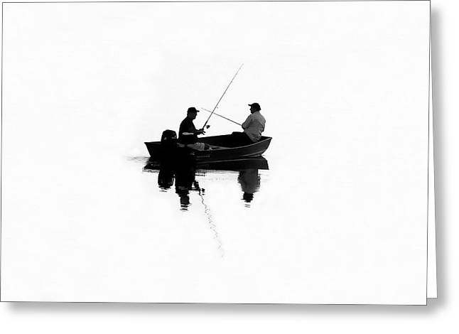 Father And Son Greeting Cards - Fishing Buddies Greeting Card by David Lee Thompson