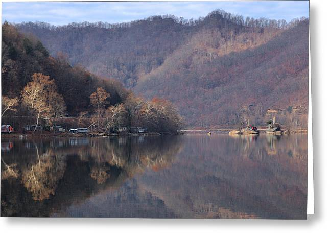 Fishing Camps On The New River Greeting Card by Robert  Suits Jr
