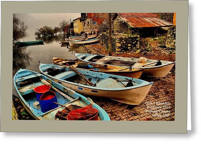 Fishing Canoes Lying Idle L A Greeting Card