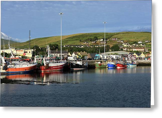 Fishing Fleet At Dingle, County Kerry, Ireland Greeting Card by Aidan Moran