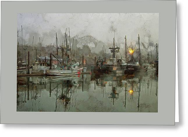 Fishing Fleet Dock Five Greeting Card