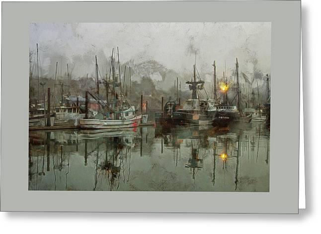 Fishing Fleet Dock Five Greeting Card
