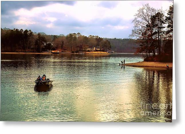 Greeting Card featuring the photograph Fishing Hot Springs Ar by Diana Mary Sharpton