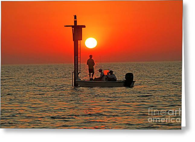 Fishing In Lacombe Louisiana Greeting Card