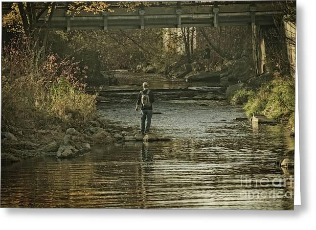 Fishing In November - 1 Greeting Card