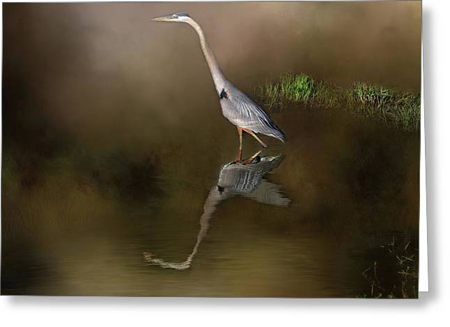 Greeting Card featuring the photograph Fishing In The Fog by Donna Kennedy