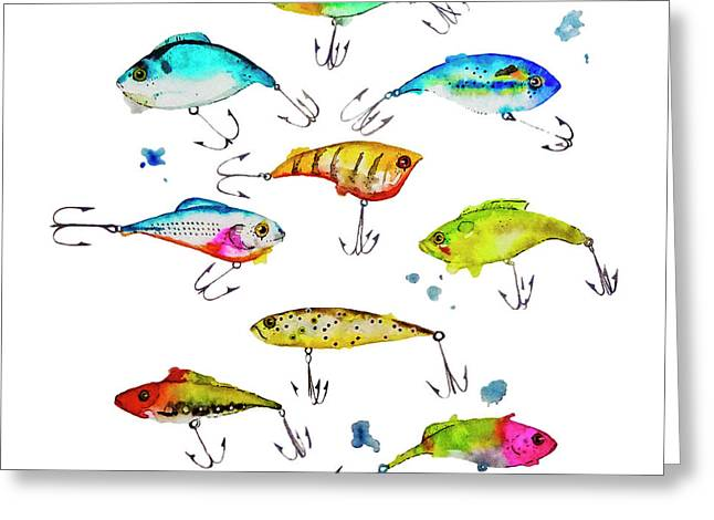 Fishing Is Fly No4 Greeting Card by Roleen  Senic