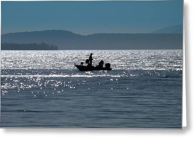 Fishing Lake Champlain Greeting Card by Sabrina Ramina