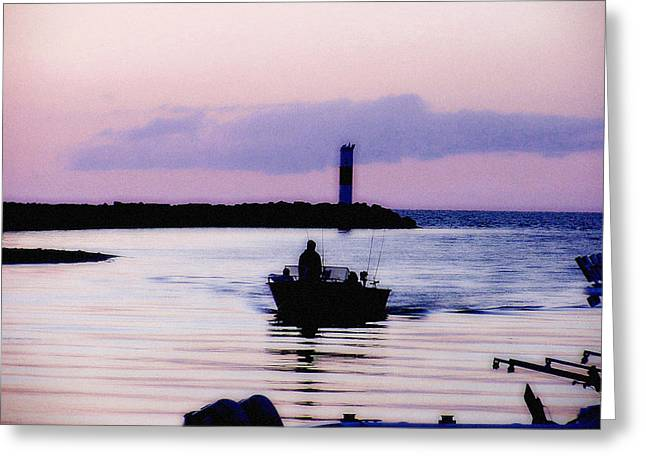 Fishing Lake Ontario  Lake Ontario  Greeting Card