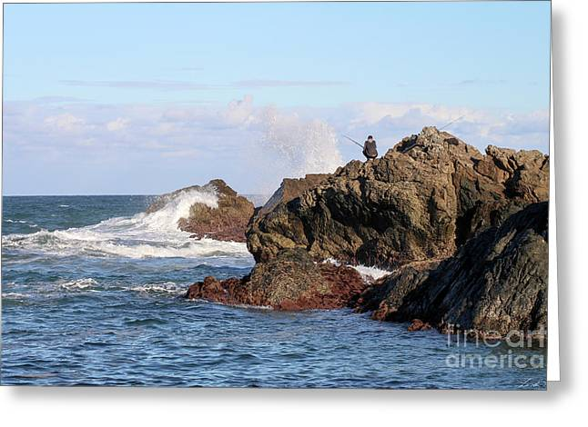 Greeting Card featuring the photograph Fishing by Linda Lees