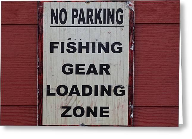 Fishing Loading Zone Greeting Card