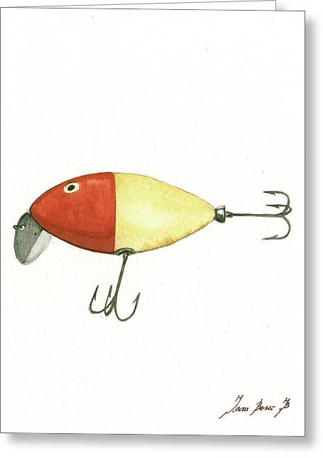 Fishing Lure  Greeting Card