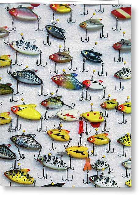 Fishing Lures Greeting Card by Garry Gay