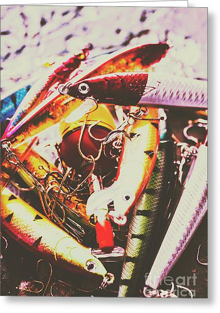 Fishing Lures Greeting Card by Jorgo Photography - Wall Art Gallery