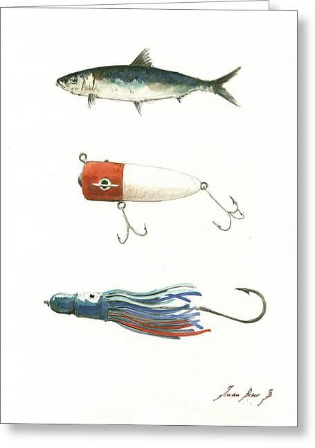 Fishing Lures Greeting Card