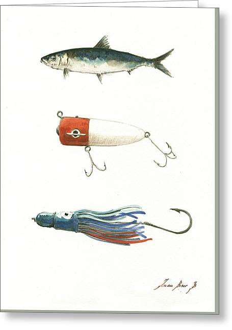 Fishing Lures Greeting Card