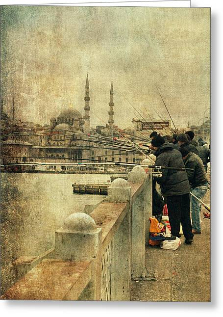 Fishing On The Bosphorus Greeting Card