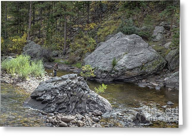 Fishing On The Poudre Greeting Card