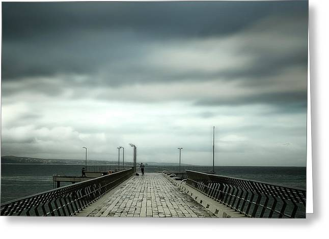 Greeting Card featuring the photograph Fishing Pier by Perry Webster