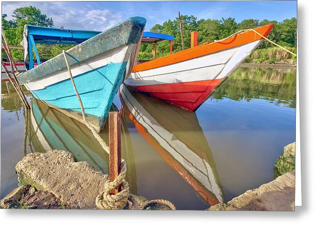 Fishing Pirogues  Greeting Card