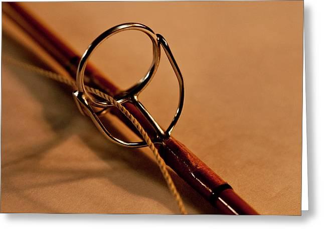 Fishing Pole Ring Greeting Card by Wilma  Birdwell