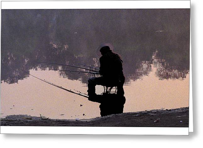 Greeting Card featuring the photograph Fishing by R Thomas Berner