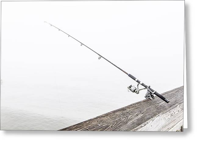 Fishing Rod Folly Beach Sc Greeting Card by John McGraw