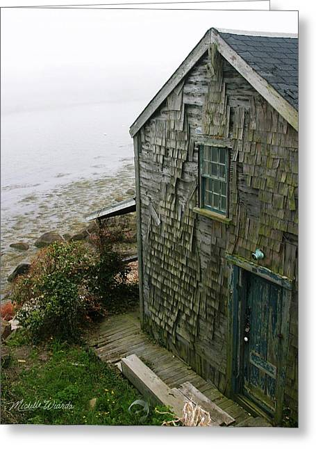 North Shore Greeting Cards - Fishing Shack Rockport Massachusetts Greeting Card by Michelle Wiarda