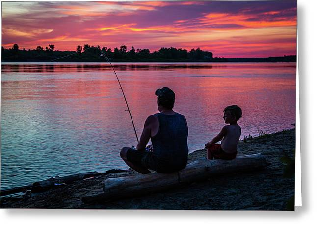 Fishing The River 1 Greeting Card