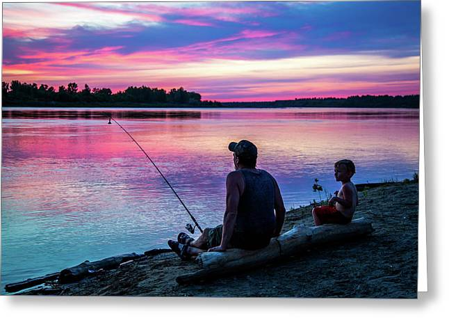 Fishing The River 2 Greeting Card