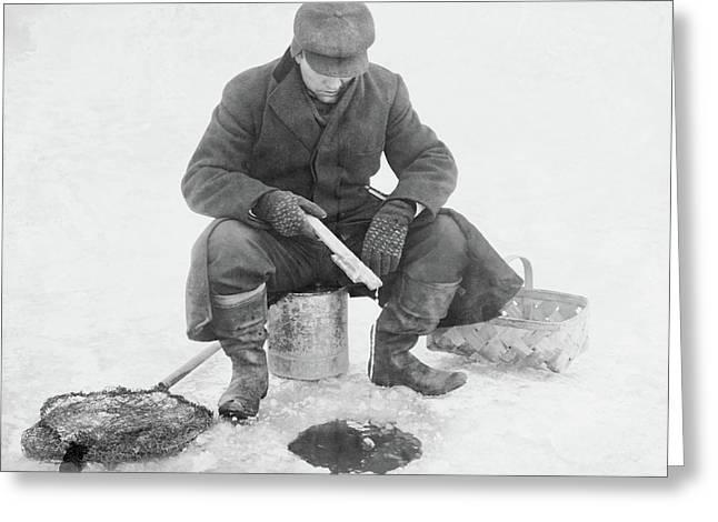 Fishing Through Ice Greeting Card