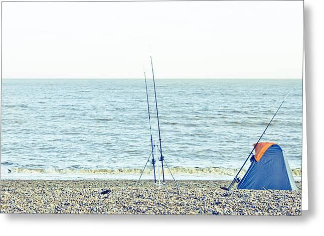 Fishing Greeting Card by Tom Gowanlock