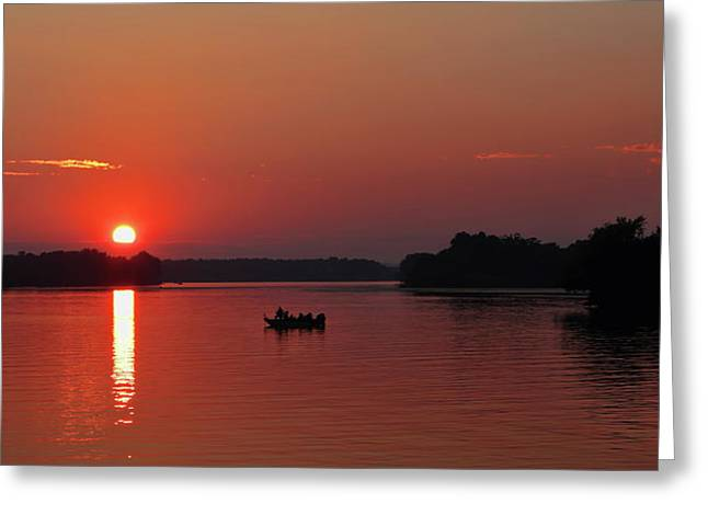 Fishing Until Sunset Greeting Card
