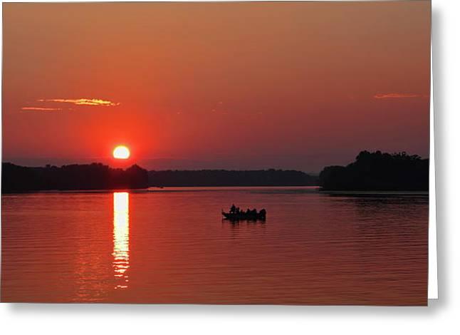 Fishing Until Sunset Greeting Card