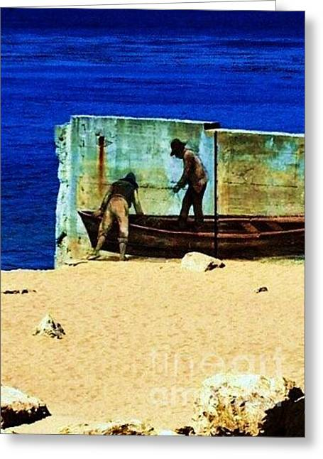 Greeting Card featuring the photograph Fishing by Vanessa Palomino