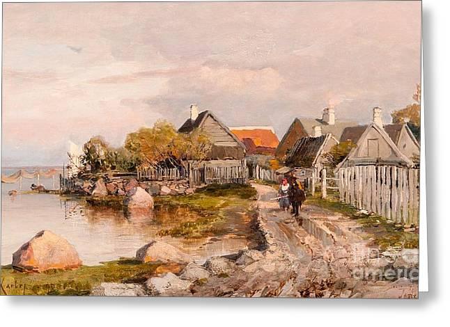 Fishing Village In Haapsalu Greeting Card by MotionAge Designs